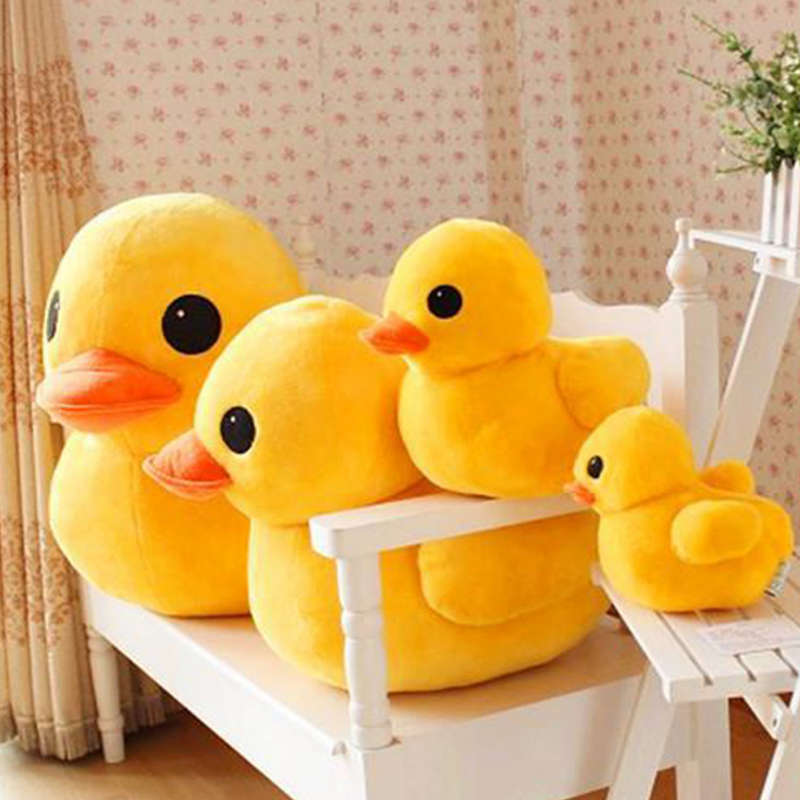 Cute Yellow Duck Plush Dolls Toy Yellow Duck Plush Toys Soft Animal Dolls Chirstmas Kid Gift Birthday Present High Quality