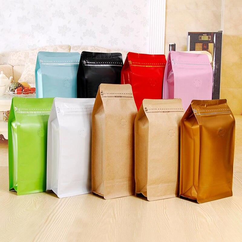 20 pcs / lote, estuche de bolsa de café de 1 libra con válvula de - Organización y almacenamiento en la casa