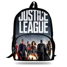 Newest Justice League superhero Printing Backpack Children School Bags for young men Boys Teenage Girls Casual Backpacks 2018 newest backpack overwatch hot pc game trecer reaper printing children school bags boys teenage girls casual backpacks