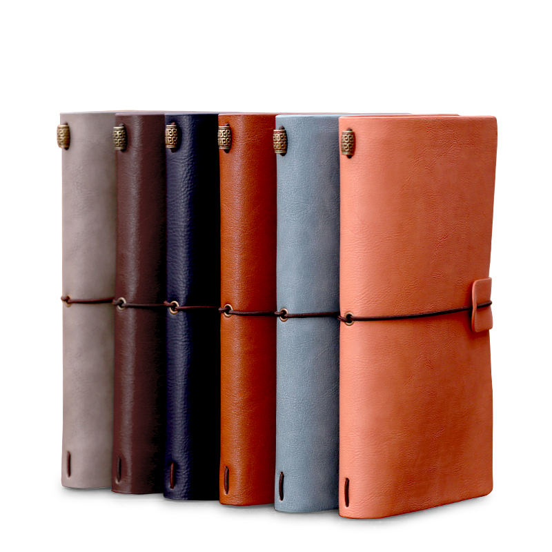 Vintage Leather Handmade Note Book Feather pirate DIY Baby Diary Notebook Stationery Soft Cover Traveler Scrapbook Journal Gift spiral notebook newest diary book vintage pirate anchors pu leather note book gift traveler journal 14 5 10 5 2 5 cm 2 color