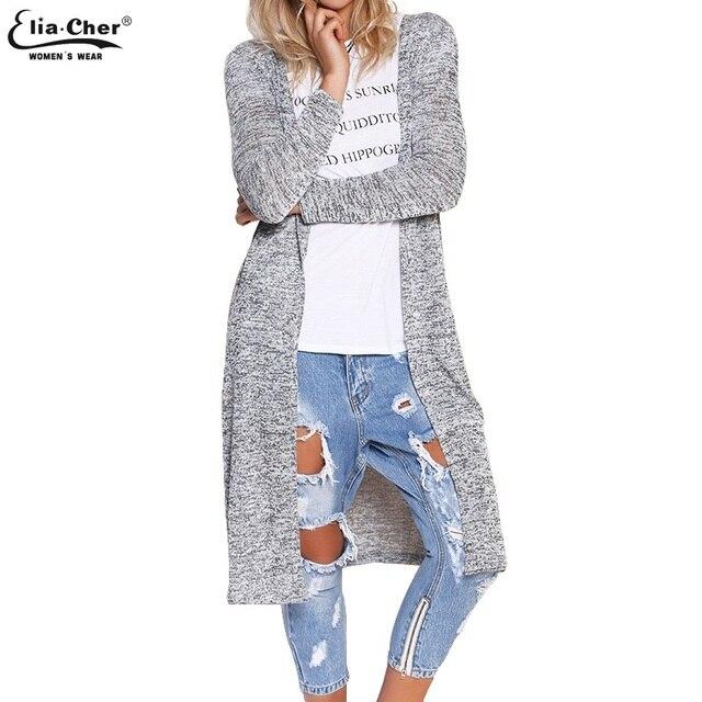 Cardigan 2017 Ponto Aberto Camisola Das Mulheres Lady Magro Inverno Longo de Malha Cardigans Tops Marca Plus Size Poncho Ocasional Camisola Das Mulheres