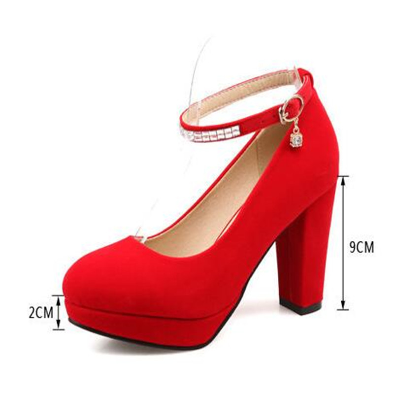 4900a2273cd MAZIAO 2018 Spring Autumn Wedding Shoes Red High Heel Platform Single Shoes  Female Bride Wedding Pumps size 34 43-in Women s Pumps from Shoes on ...