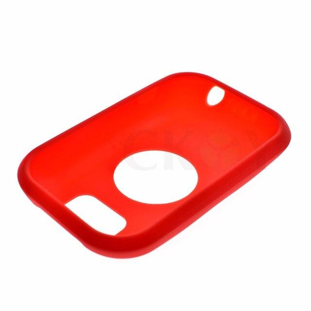 Ciclismo ao ar livre de Borracha de Silicone Proteger Caso Vermelho + Filme Protetor de Tela LCD Para Polar V650 GPS Acessórios