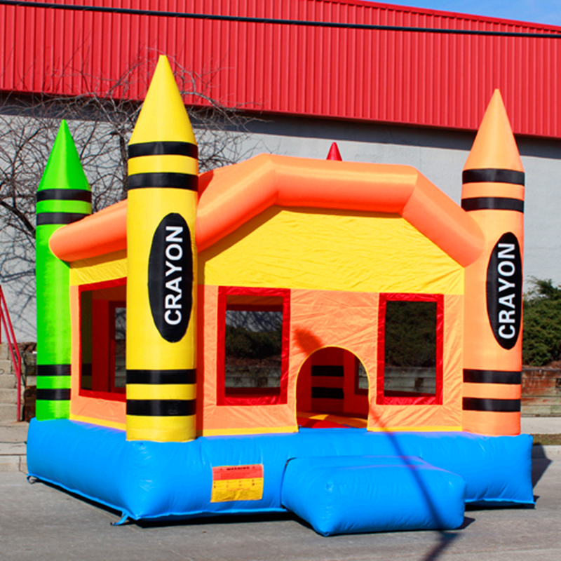 Free shipping oxford cloth inflatable crayon font b bouncer b font commercial bounce houses inflatable crayon