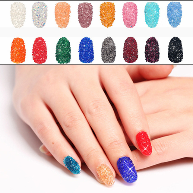 Mini Nail Zircons 1400pcs 11mm Many Colors Zircon Rhinestones Micro
