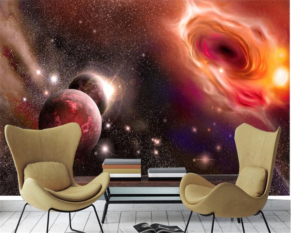 beibehang Advanced Wallpapers Aesthetic Dreams Cool Universe Star Planet Galaxy TV Walls papel de parede 3d