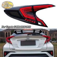 Car LED Tail Light Taillight For Toyota C-HR CHR 2017 2018 Rear Running Light + Brake Light + Reverse Lamp + Dynamic Turn Signal недорого