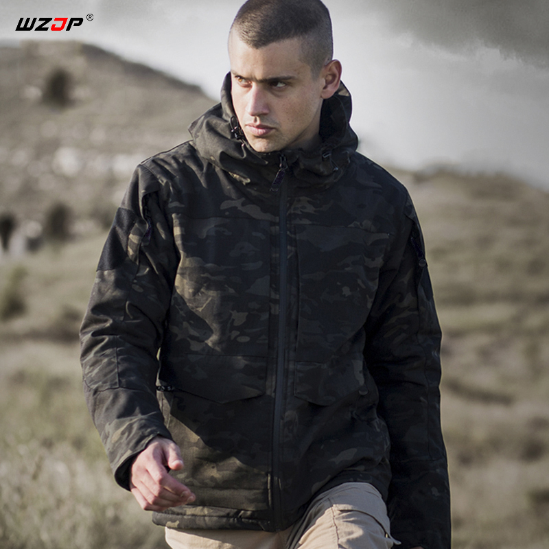 Dedicated Wzjp Tactical Military Winter Mens Camo Three-in-one Hooded Windbreaker Lining Fleece Jacket Waterproof Thermal Coat Jacket New Cool In Summer And Warm In Winter Sports & Entertainment
