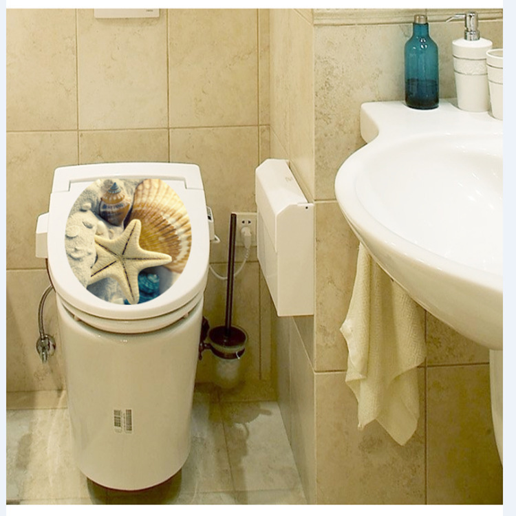 New starfish Bathroom wall sticker home decor 3D toilet sticker wall ...