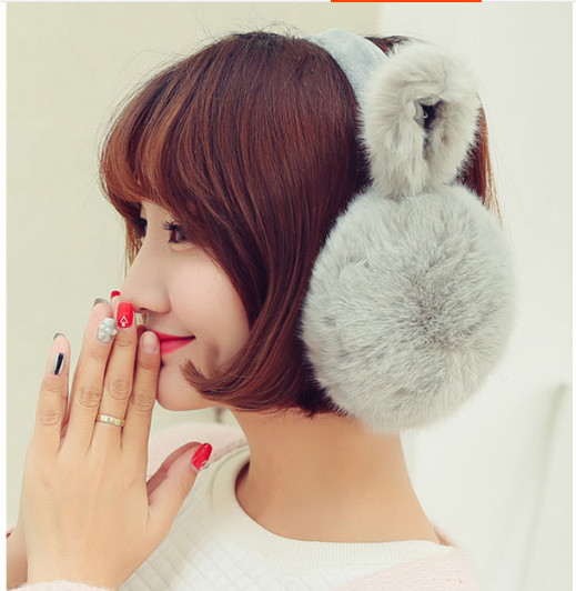 Lady Bowknot Cat's Ear Package Ear Warmers  Female Earmuffs Fur Earmuffs Earlap Ear Cover Ear Muffs Orejeras Winter AW6773