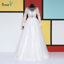 Dressv ball gown long sleeves floor length wedding dresses