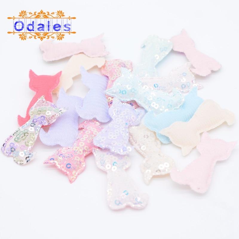 24Pcs Kawaii Cat Bling Appliques Scrapbooking Padded Patches DIY Headwear Clips Accessories Headdress Sticker Supplies