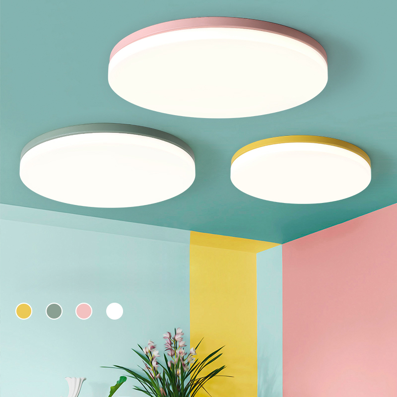 Wooden Ceiling Lights For Living Room Bedroom lighting fixture round surface mounted Ceiling Lamp home Decorative Lampshade deco