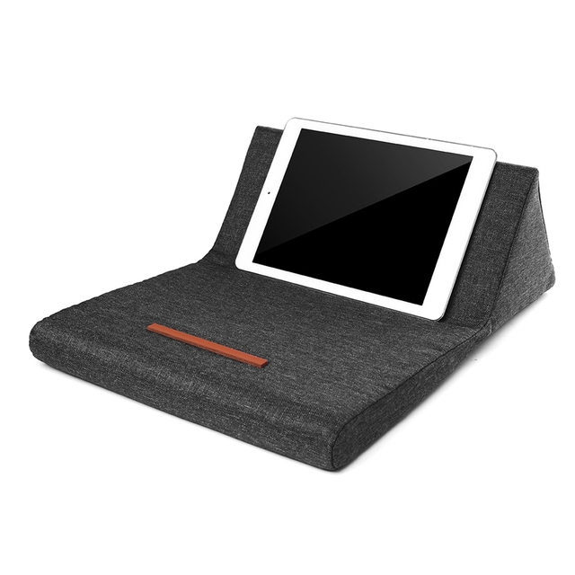 Us 12 87 29 Off Portable Plush Tablet Pillow Holder Stand Stylish Wedge Pillow Angled Cushion Lap Cooling Stand For Ipad Pc Tablet Book Reader In