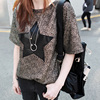 Hot Summer Casual Side Loose T Shirt Women 2016 Short Sleeve Long Tshirt Female O Neck