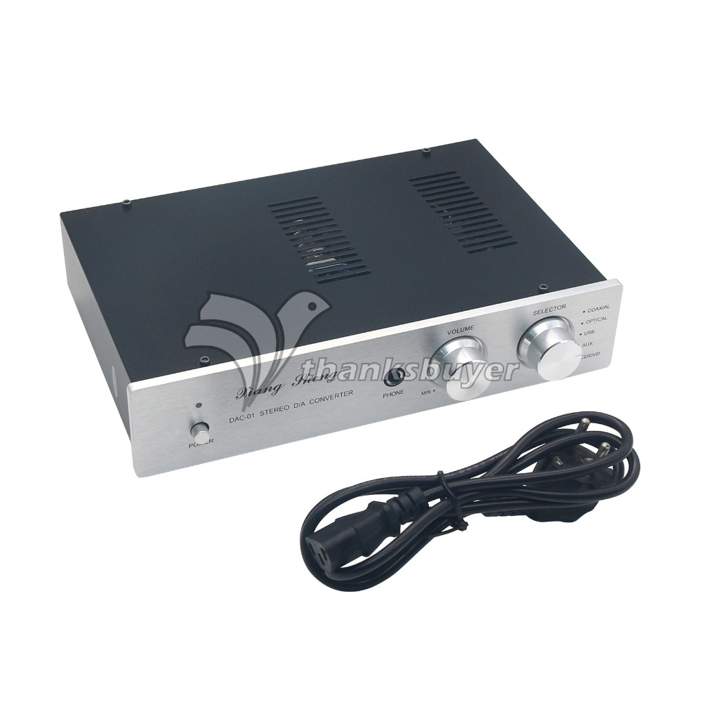 XiangSheng DAC-01A DAC Tube 24Bit 192Khz USB Decoders/Headphone/PreAmplifier