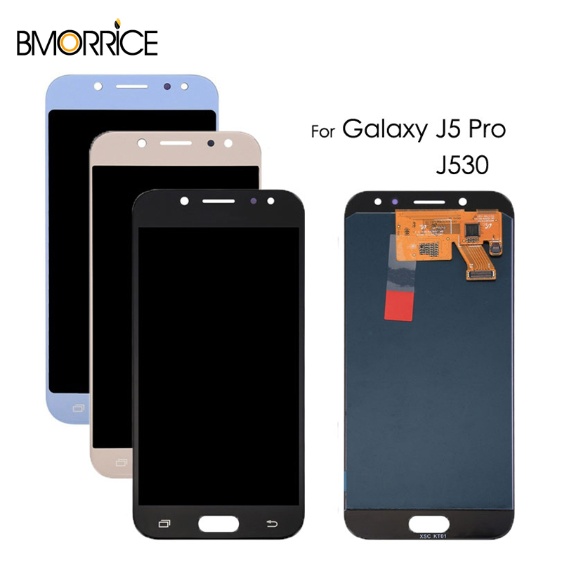AMOLED/TFT Für <font><b>Samsung</b></font> <font><b>Galaxy</b></font> J5 Pro 2017 <font><b>J530</b></font> J530F SM-J530F J530FM <font><b>LCD</b></font> Display Touchscreen Digitizer Montage Einstellen helle image