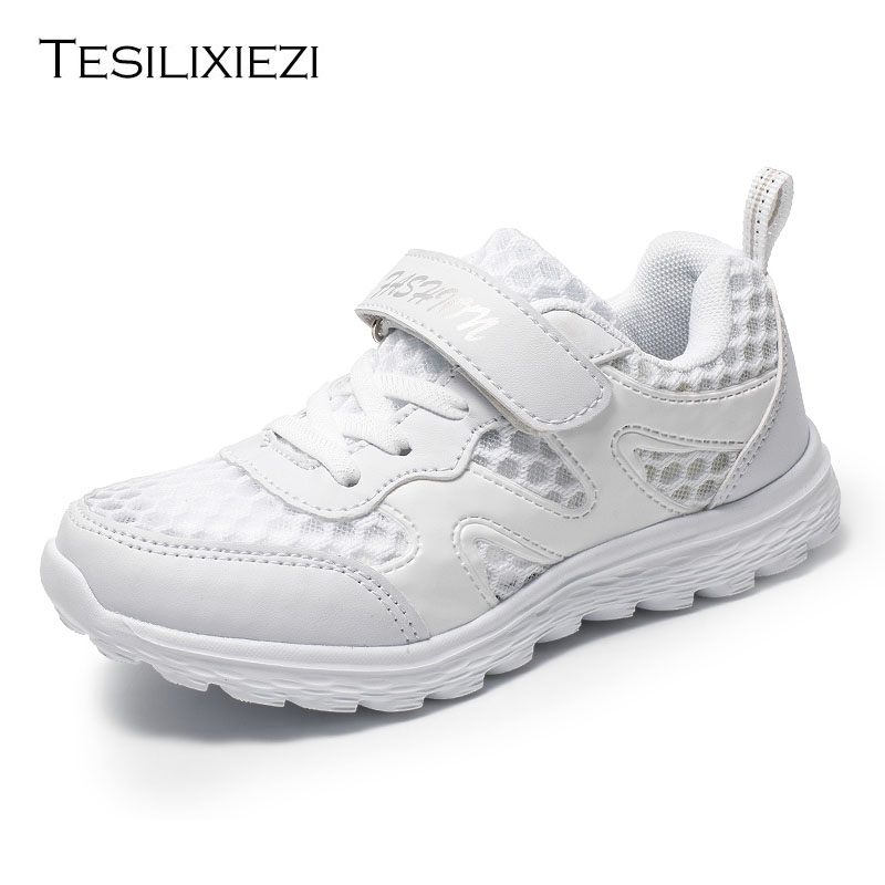 Boy/Girls White Kids Sneakers Children's Mesh Breathable KId's Sneakers