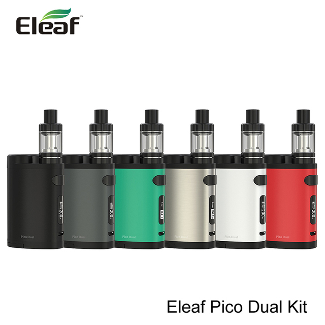 100% Original Eleaf Pico Dual Kit with Pico Dual Box Mod and Eleaf MELO 3 Mini Atomizer VW/TC 200W Eleaf Electronic Cigarette