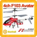 fast shipping 4ch avatar with Gyro Metal Helicopter FH103 F103 UPGRADE Remote Control toy helicopter wholesale