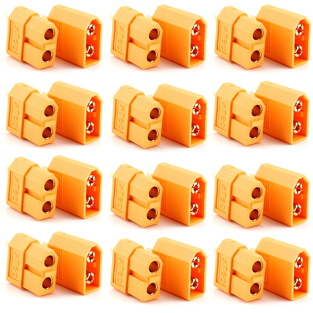 10pairs XT60 XT-60 Male Female Bullet Connectors Plugs For RC Lipo Battery injora 5 pairs xt60 xt 60 male female bullet connectors plugs for rc car drone lipo battery