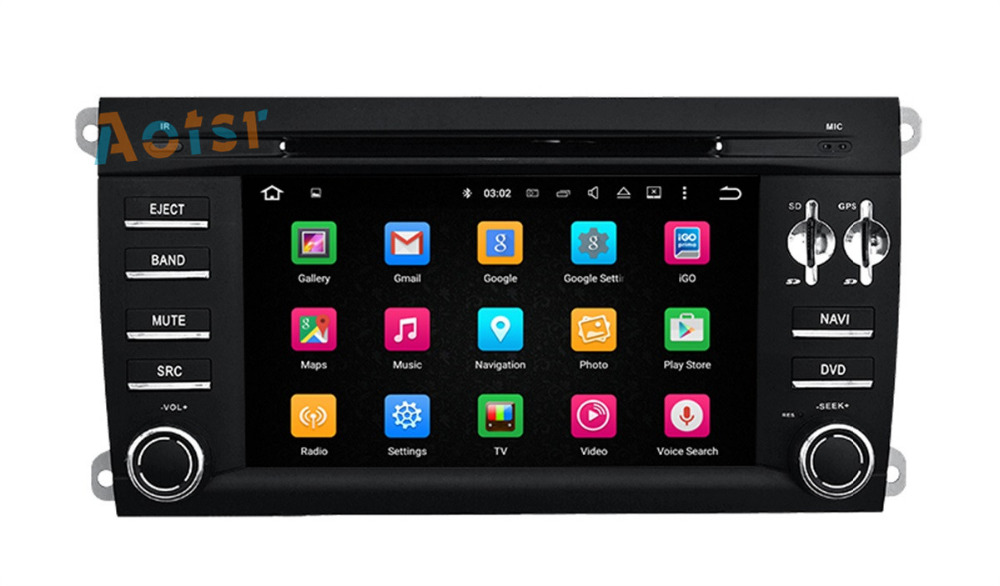 8 Core Android 6.0 Car DVD Player Stereo GPS Navigation Car Radio For Porsche Cayenne 2003 2004 2005 2006 2007 2008 2009 2010