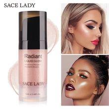 SACE LADY Illuminator Highlighter Cream Profissional Completa Liquid Primer Face Brightener Make Up Glow Kit
