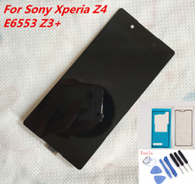 100%tested Black white LCD Display For Sony Xperia Z4 Z3Plus Z3+ E6533 E6553 Touch Screen Digitizer Assembly with Adhesive+tools