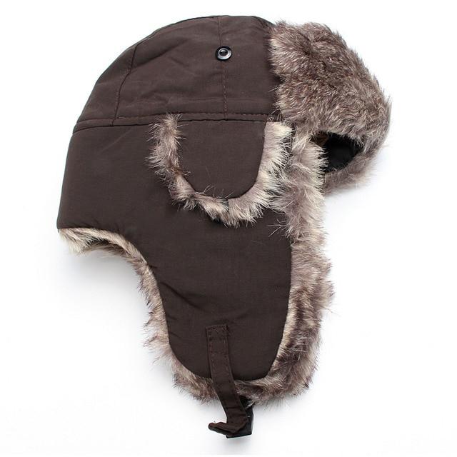 Invierno cálido Ushanka Sombrero bombardero orejeras hombres mujeres  Thicken Balaclava algodón sombreros Sombrero Hutting gorras calentador 1d7b08ee52ae