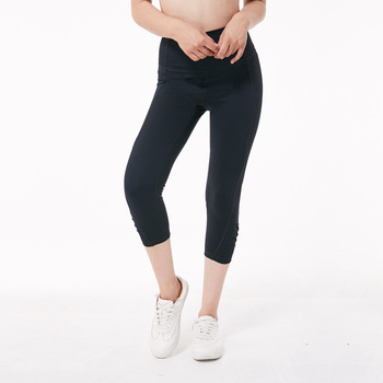 Eshtanga capris women sports reflective crop running capris thick material Bodybuilding exercise Yoga workout leggings