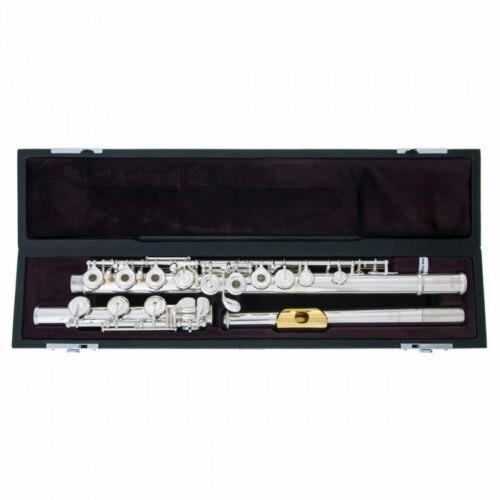 Tout nouveau C ton métal flûte 372 H Cupronickel Tube plaqué argent Surface avec B pied Split Instrument avec étui