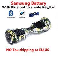 Новый цветной 6,5 дюймовый скутер Bluetooth + пульт дистанционного управления + сумка + SM batteryTwo wheel Электрический Скутер Ховерборд Одноколесный ск