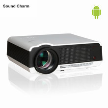 New! 5500lumens Full HD Native1280*800 Resolution Built-in Android 4.42 OS Wifi +RJ45+2HDMI+2USB+SD,Perfect For Home Cinema