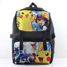 New Fashion Pokemon Cosplay School Bags Backpack Pocket Monster Shoulder Bags Boys Girls Pikachu Lovely Laptop Rucksack Bagpack