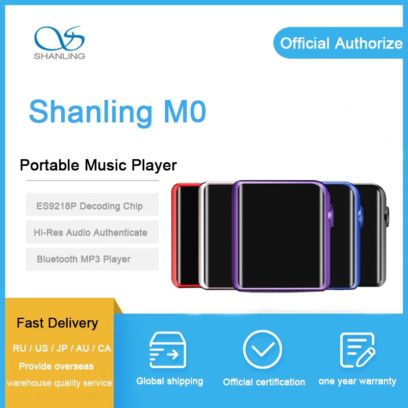 SHANLING M0 mp 3 player es9218p dac hi fi music Player 32bit 384kHz Bluetooth AptX LDAC