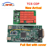 Best Price CDP PRO Newest 2016.00 newest New TCS CDP New VCI Auto Diagnostic Tool With Red Relay for CAR/TRUCK OBD2 Scanner