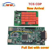 New arrival CDP PRO 2018 Newest 2015.R3 Keygen New TCS CDP New VCI Auto Diagnostic Tool With Red Relay for CAR/TRUCK