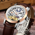 LIGE Mens Watches Top Brand Luxury Automatic Mechanical flywheel Watch Fashion Luminous Clock leather strap Wristwatch men gift