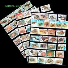파충류 250 pcs 수집에 대 한 좋은 조건에서 모든 다른 사용 된 세계 넓은 우표