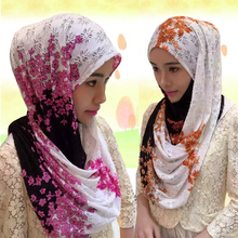 2017 New Scarf Women Muslim Muslim Islamic Scarf Scarves Time-limited Sale Adult Patterened Hijabs Hollow Out Lace Women's
