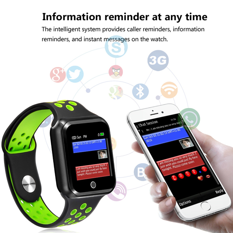 S226 Smart Watches Watch IP67 Waterproof 15 days long standby Heart Rate Blood Pressure Bluetooth Smartwatch Support IOS Android