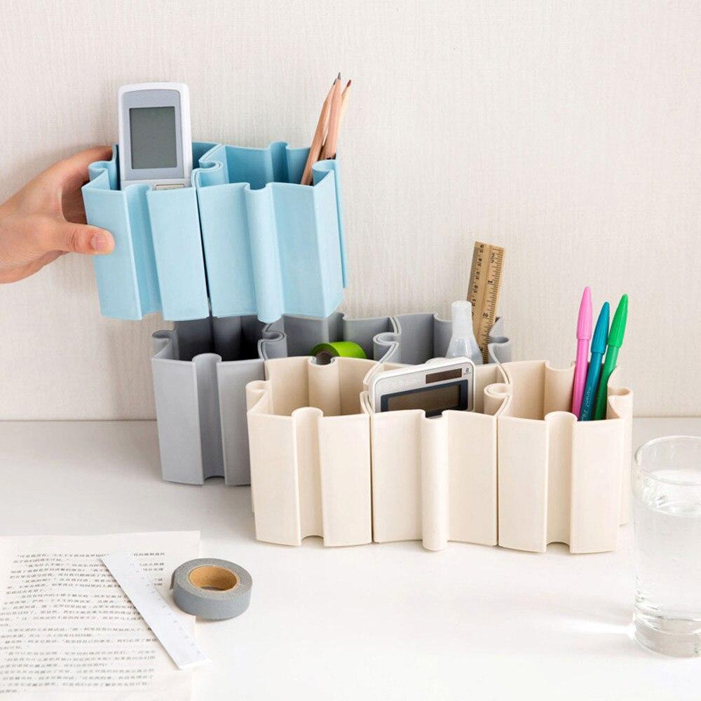 1Pc Desk Desktop Offices Storage Box Case Cosmetic Organizer Holder Pen Holder
