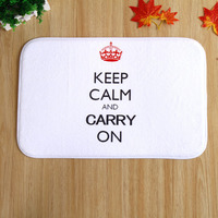 Free Shipping Wholesale Small Crown English Letters Rectangular Carpet Living Room Bedroom Bathroom Antiskid Doormat
