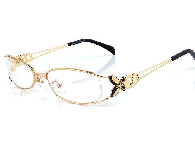 Tienda Online Ojo gafas marcos para las mujeres rojo aleación full ...