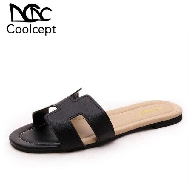8bbccbb7a Coolcept feminino marca lazer sandálias confortáveis chinelos sapatos macios  do verão as mulheres praia flip flop