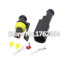 10 Sets 1 Pin AMP 1.5 Connectors,DJ7011-1.5 Waterproof Electrical Wire Connector Plug, Xenon lamp connector Automobile Connector