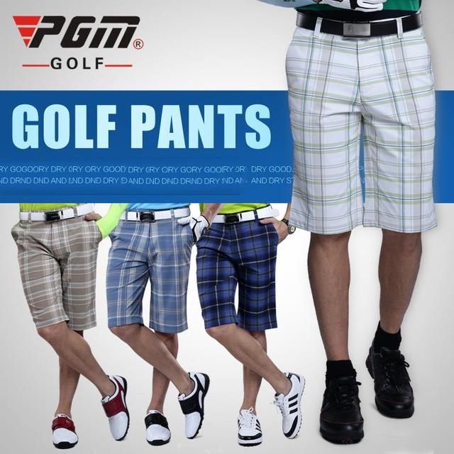 87a8f0354c90 PGM Golf Authentic Men Golf Plaid Shorts Male Golf Summer Trousers Clothes  Golf Apparel Thin Breathable Wicking Quick Dry XXXL