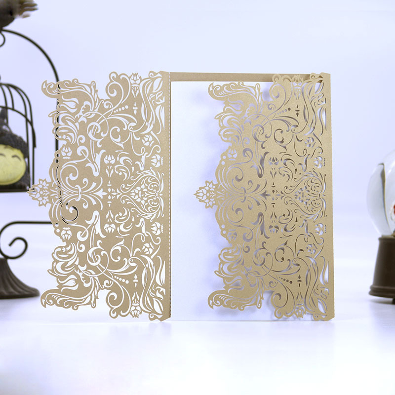 Rustic Marriage Wedding Invitation Laser Cut business Invitation Card Event & Party Supplies Gift Card no Envelope