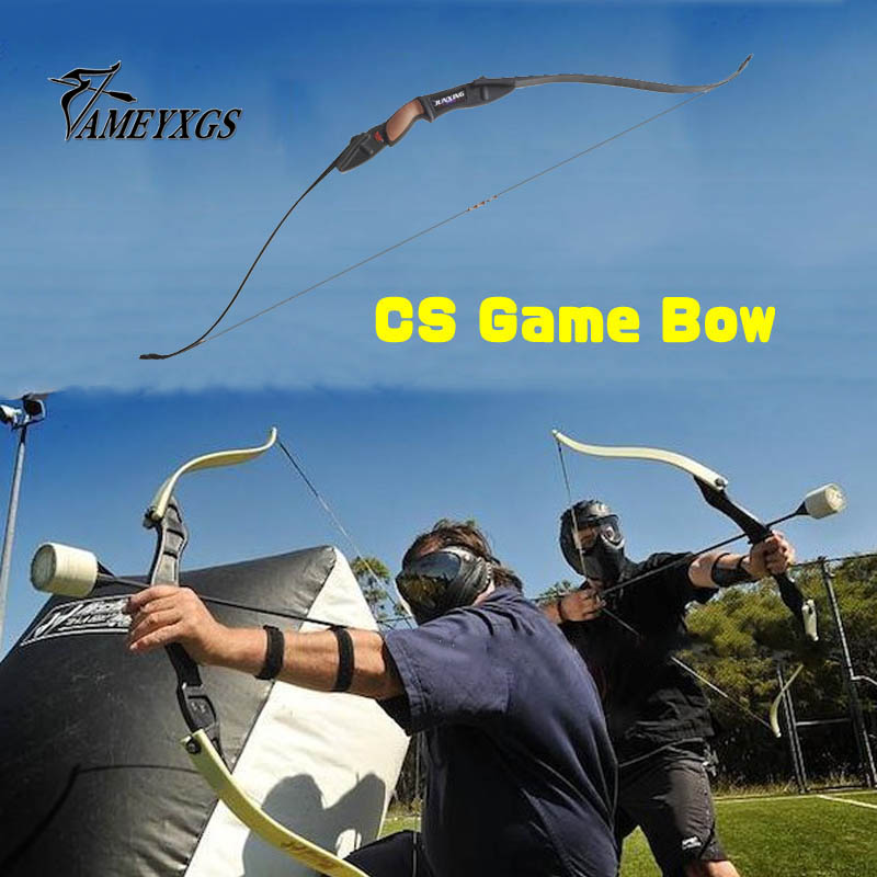 1 PCS Takedown Recurve Bow for CS Games Archery Bow Fits Right and Left Bows Outdoor Sports Shooting Competition Outdoor Sports 32 inch archery children shooting bow safe of 12 lbs compound bow for kids competition sports games training youth beginner bow