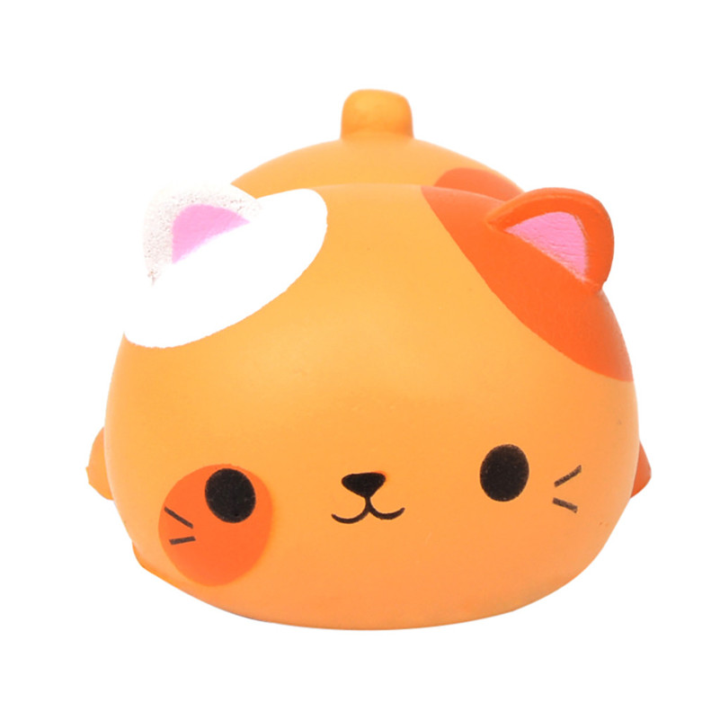 T Cute Cat Shape Decompression Venting Toy Slow Rebound Simulation Animal Toy   Squishies Quash Antistress Games Anti-stress F1